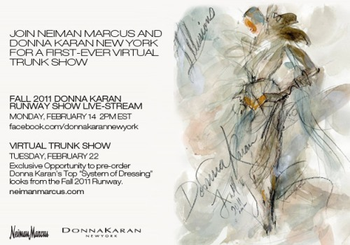 Neiman Marcus Facebook Trunk Show Post, Facebook.com/DonnaKaranNewYork