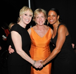 Carol Weisman and Audra McDonald celebrate Fern Tessler