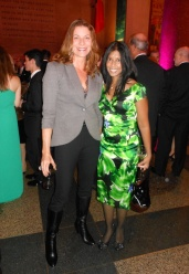 Brooke Beardslee in DKNY and Barneys, and Tuhina De wearing Vince Camuto and Marni