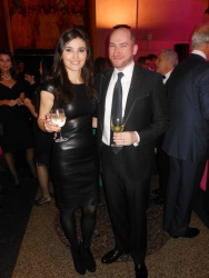 Gerta Abramson in Jitrois and David Levine in Zegna